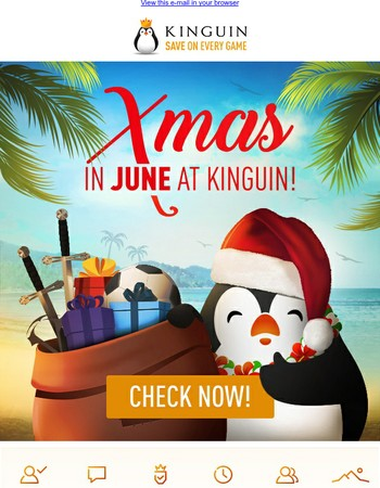 It's X-mas in June at Kinguin, get in the gaming spirit with the best deals!