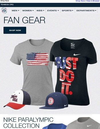Celebrate Team USA with the Fan Gear Collection!