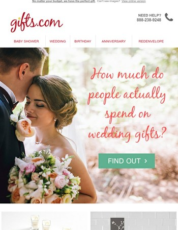 Curious How Much People Spend On a Wedding Gift?