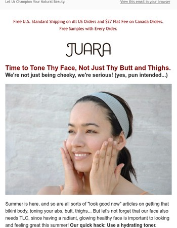 Tone Your Face, Not Just Your Thighs this Summer