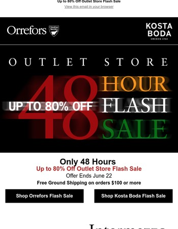 Up to 80% Off Outlet Store Flash Sale | 48 Hours Only