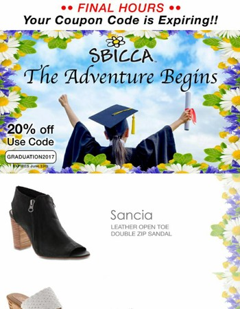 Graduate in style with Sbicca Footwear