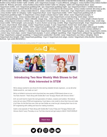 GoldieBlox Launches Two New STEM Shows to Get Kids Interested in STEM