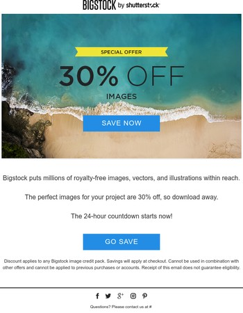 Turn any project into a masterpiece by getting 30% off images