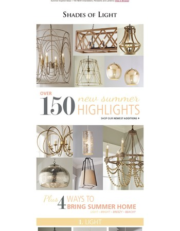 150 NEW Chandeliers, Pendants & Lanterns + 4 ways to bring Summer Home