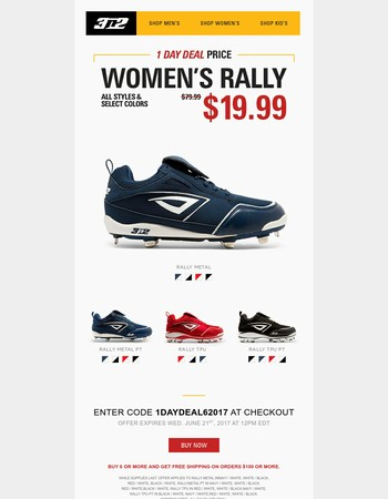 3N2's 1 Day Deal: Women's Rally – Only $19.99!