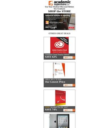 Stock Up & Save on Adobe, Apple & Microsoft
