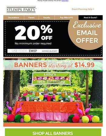 Grab a banner for any reason!