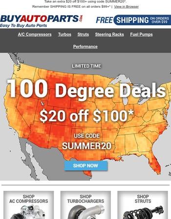 Temperatures over 100 degrees!
