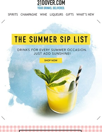 Your ultimate summer drinks list