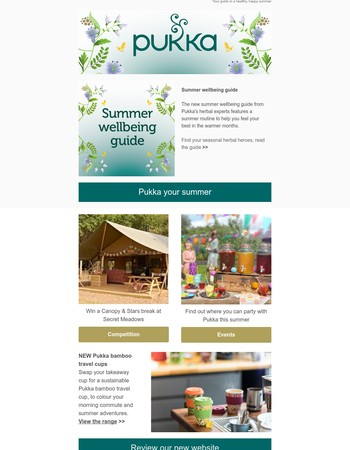 Canopy & Stars competition | New summer wellbeing guide | Pukka ice pops☀