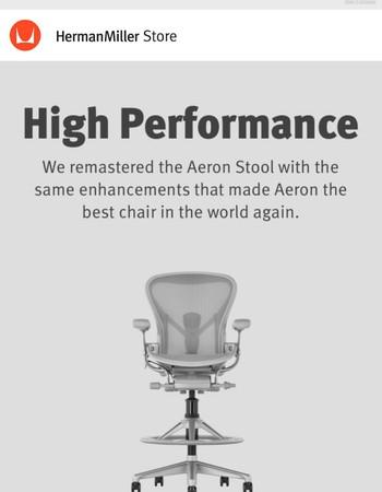 Meet the Remastered Aeron Work Stool