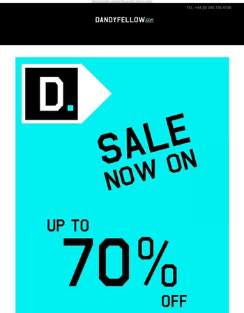The Dandy Fellow Sale is Now On - Get up to 70% OFF This Seasons Menswear