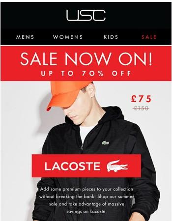 SALE! Lacoste // Big Brands, BIGGER Savings!