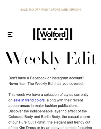 The Weekly Edit.