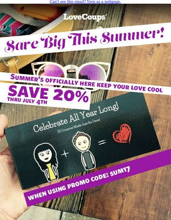 Save Big This Summer!
