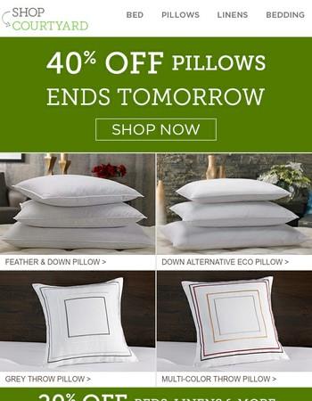 1 Day Left | 40% Off Courtyard Pillows