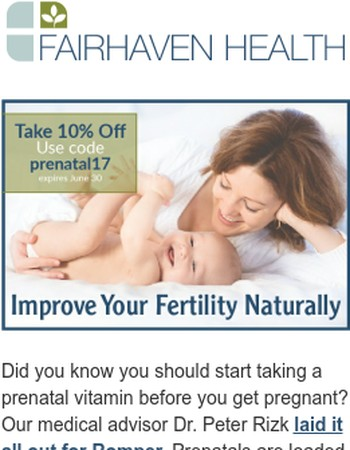Should you take a prenatal vitamin before you're pregnant? YES!
