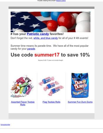 Patriotic Candy Specials