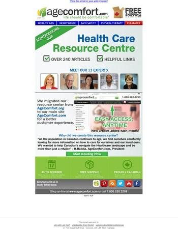 New Health Care Resource Centre!