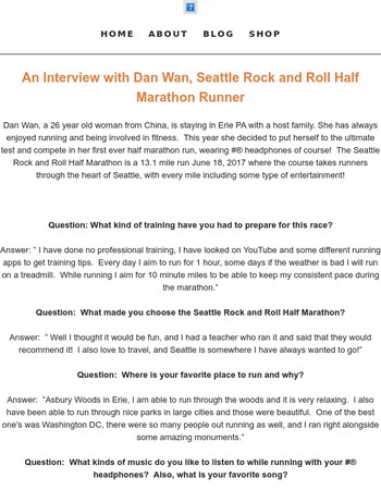 Interview with Dan Wan, Seattle Rock and Roll Half Marathon Runner!