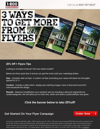 20% Off + 3 Secrets to Flyers