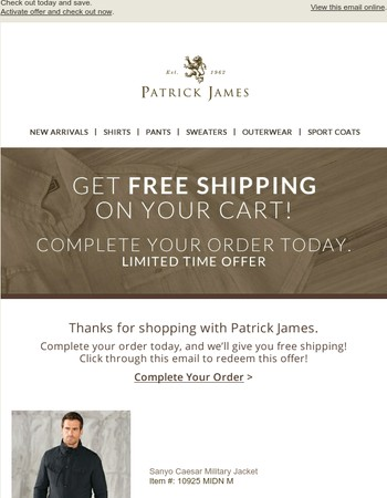 Get Free Shipping on Your Cart!