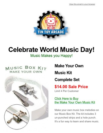 It's World Music Day! Celebrate By Making Your Own Music!