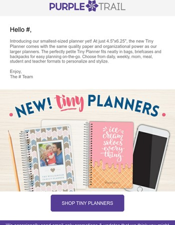 New Custom Tiny Planners for Planning On-the-Go