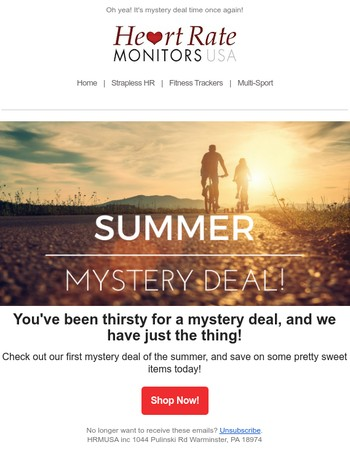 Here's our first mystery deal of the summer!