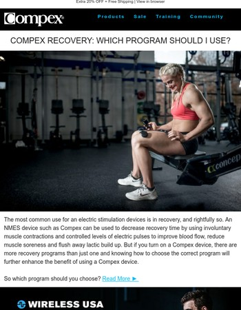 Compex Recovery Program Tips