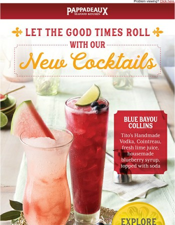 A toast to our new cocktails!
