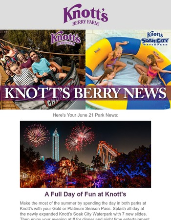 Celebrate 4th of July Weekend at Knott's Berry Farm