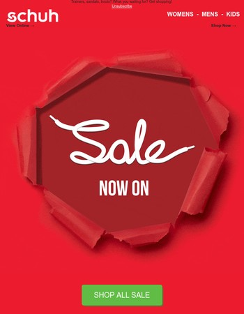 SALE now on - go, go, go!