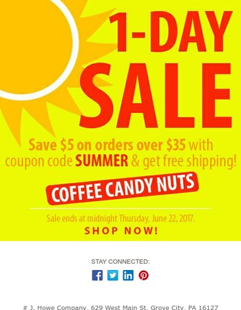 Save $5 With Coupon Code SUMMER
