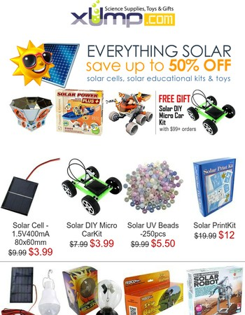 Summer is here! Save up to 50% on everything solar ...