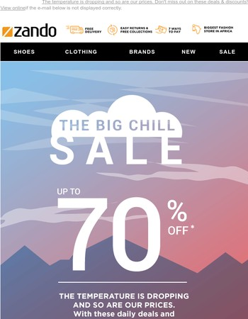 Up To 70% Off, The Big Chill SALE has arrived!