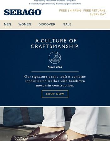 Classic Casual. A Culture of Craftsmanship.