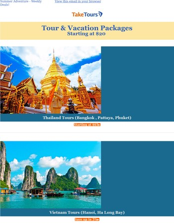 Summer Adventure - Tours Starting At $20