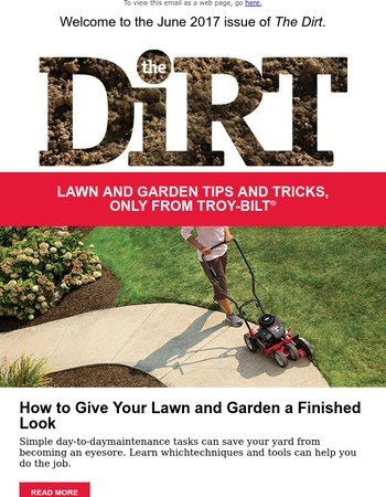 Customer, your June issue of The Dirt is here