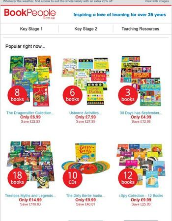 20% off - brighten your bookshelf with big savings