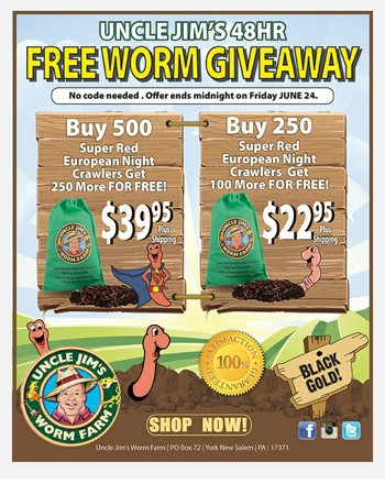 Uncle Jim's Worm Giveaway!