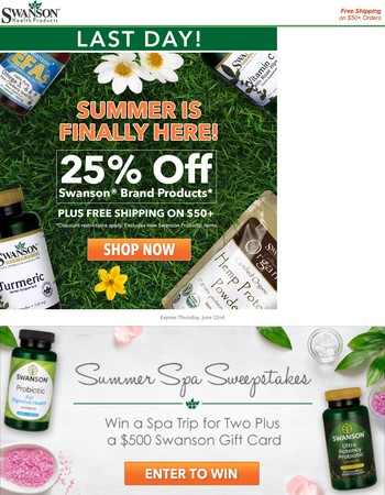 Get 25% Off to Celebrate Summer – Ends Today!