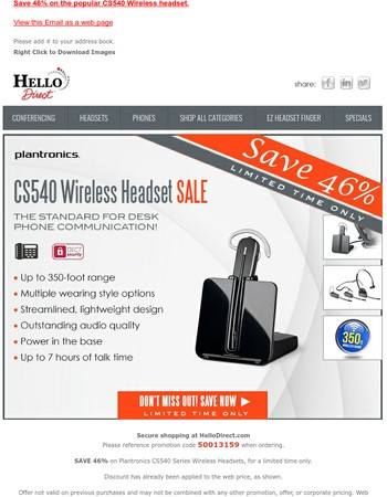 Still time to Save 46% on CS540s. Only $170.51!