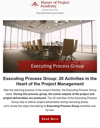 The 20 Activities of Executing Process Group