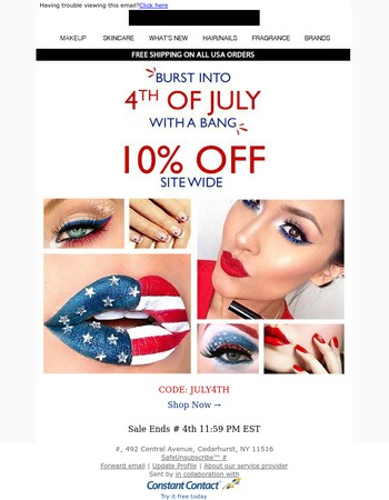 4th of July Sale - 10% off Site Wide
