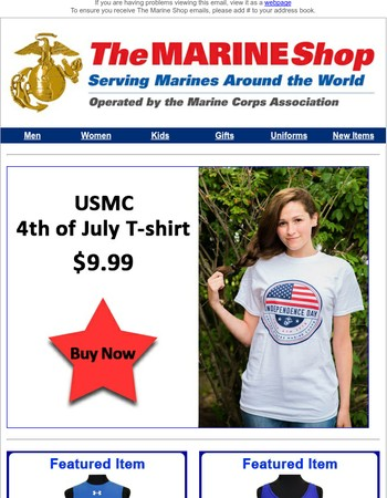 Beat the Heat with USMC Tees & Tanks