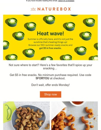 Hot Deal: Get $5 toward your first order!