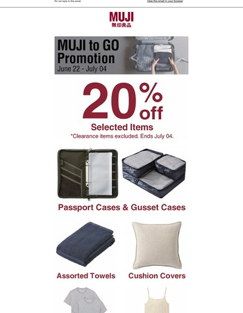 You will need this for your next trip - MUJI to Go Promotion