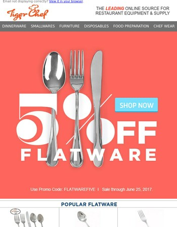 All Flatware on Sale for 4 Days Only